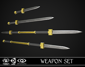 3D model Melee Weapon Set A4