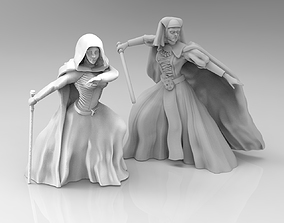 3D print model Female Mystical Knight Bundle