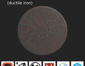 Sewer Lid - ductile iron - LOW 3D model