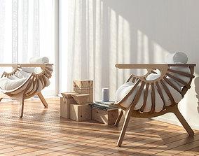 3D model Shell Chair interior scene