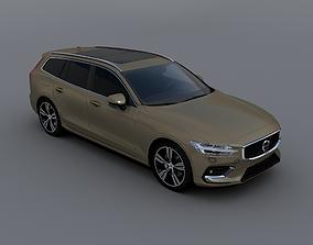 Volvo V60 2018 3D asset