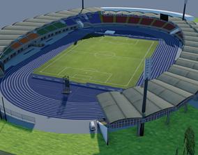 3D asset Linzer Stadion Linz Austria