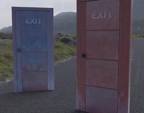 Rustic Doors 3D model