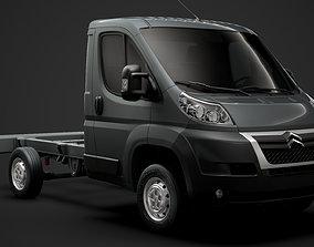 Citroen Jumper Relay Chassis Truck Single Cab 3D model 2