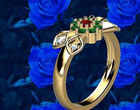ledis dutch flower ring 3D printable model