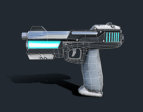 Plasma pistol 3D model low-poly