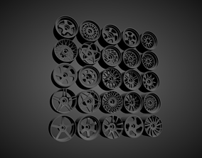 JNC rims with Brakes and tires for Hot Wheels 3D