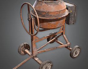 CON - Concrete Mixer - PBR Game Ready 3D model low-poly