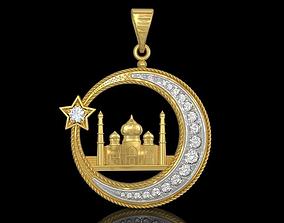 3D printable model Muslim mosque pendant