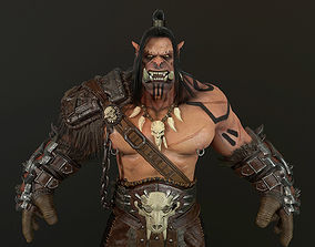 ORC warlord 3D asset