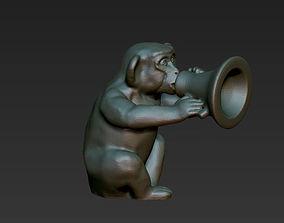 horoscope symbol silent monkey chinese 3D print model 3