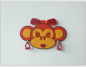 3D printable model Magnet Monkey Girl