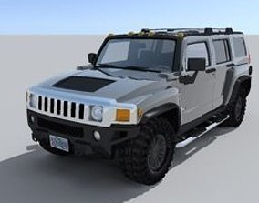 3D model suv Hummer H3