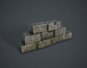 3D model VR / AR ready Blocks