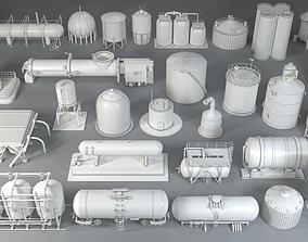 3D model Industrial Tanks - 29 pieces