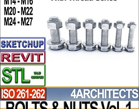 Bolts Nuts Vol 1 ISO 261 262 STL Printable Vol 1 ISO 261