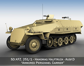 3D SDKFZ 251 - Ausf D - Half-track