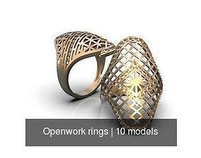 Openwork rings 3D