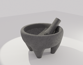 3D asset Mexican Molcajete