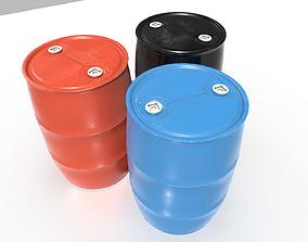 3D asset Plastic Barrel 1