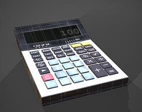 Calculator math 3D asset game-ready