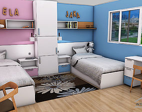 3D model realtime child room design