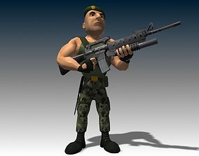 Captain James Animated 3D model