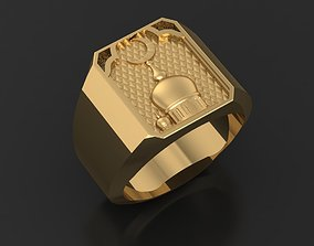 3D printable model Mosque muslim ring