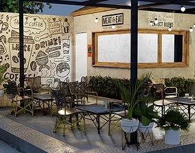 Small Cafe Design 3D