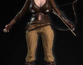 Cute Lara Croft Girl Character Best Ever 3D asset