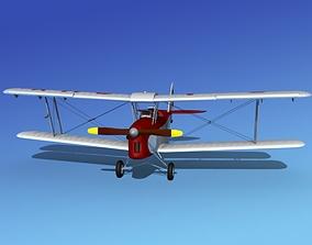 Dehavilland DH82 Tiger Moth V15 3D model
