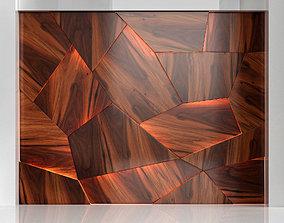 3D model Wooden panels 2
