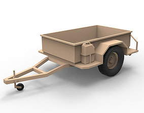 3D asset Military utility trailer