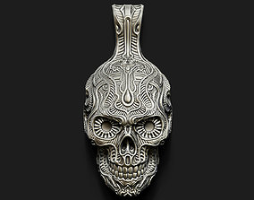 3D print model Fancy Skull pendant