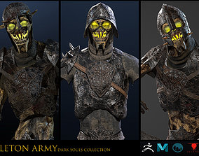 3D Skeleton Army collection RIGGED