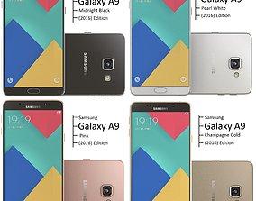 Samsung Galaxy A9 2016 all color 3D model