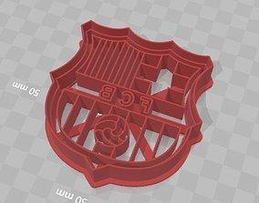 3D printable model Barcelona Shield Cookie Cutter Escudo 1