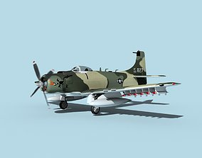 3D model Douglas A-1H Skyraider V13 USAF