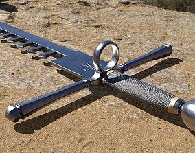 3D model Swordbreaker parring dagger