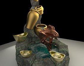 3D Chinese Gold Ingot new