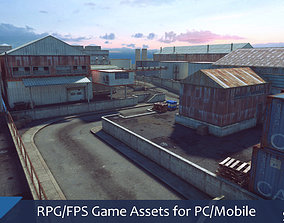 low-poly RPG FPS Game Assets for PC Mobile Industrial Set