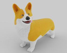 3D Stylized Welsh Corgi dog rigged