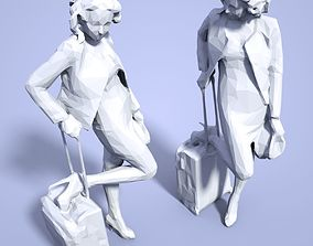 miniature Girl Low poly Sculpture 3D print model