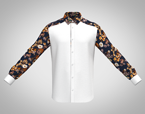 3D MENs Formal Shirt With Floral Sleeve Caller 1