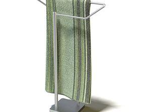 3D model Tall Metal Towel Wrack