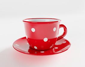 Polka Dot Tea Cup 3D model