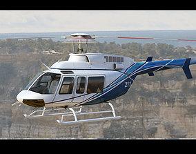 3D Bell 407 White