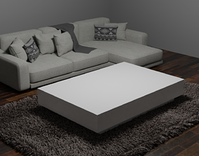 3D asset VR / AR ready living Table