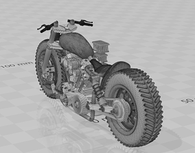 1 to 24 scale custom motorcycle 3D print model