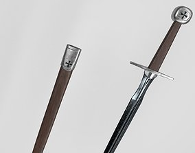 3D asset low-poly Sword - 7 textures - Medieval weapon